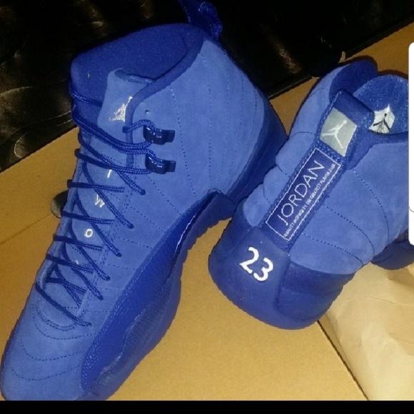 Blue Suede Jordan Retro 12 Nike NEW never worn 257791e85
